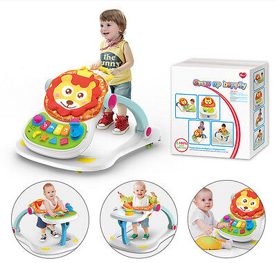 4 In 1 Multi Functional Baby Musical Play / Feed Station & Push Walker
