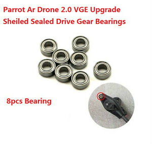 8pc Parrot Ar Drone 2.0 Upgrade Sheiled Sealed Drive Gear Bearings shaft main