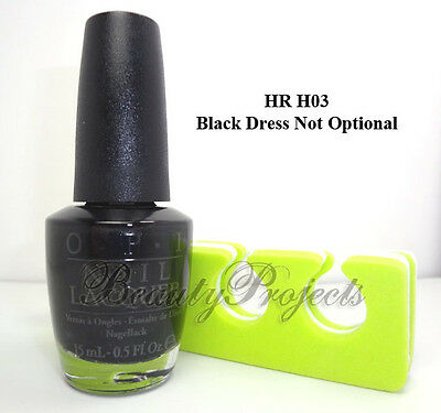 OPI Nail Polish Black Dress Not Optional HR H03 Breakfast at Tiffany's +bonus