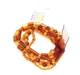 Brown Beaded Bracelet. - JTY187