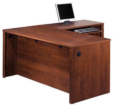 Bestar Embassy Executive L Shape Office Desk In Tuscany Brown - 60873-1463