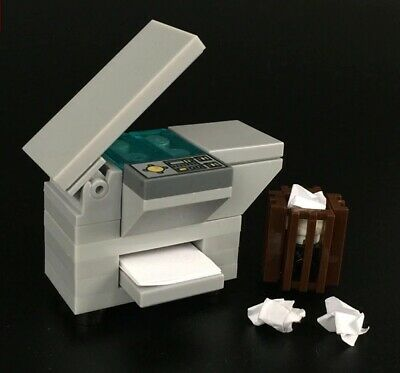 Paper Photocopier Machine Office Equipment & Trash Bin for LEGO Minifigures MOCs for sale  Shipping to Nigeria