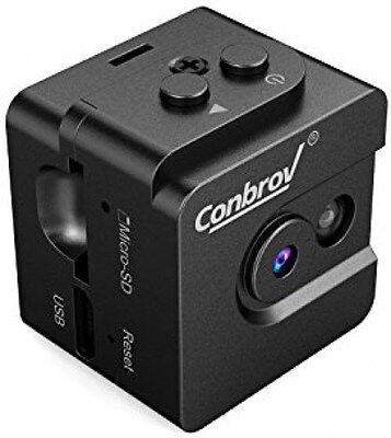 Mini Spy Cam Hidden Camera-Conbrov T16 720P Portable Small Nanny Cam with Night](mini spy cam hidden camera conbrov t16 720p)
