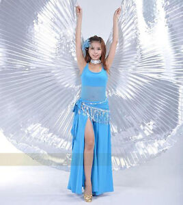 Egyptian Egypt Belly Dance Costume Isis Wings dance wear  (no stick) 7 colors