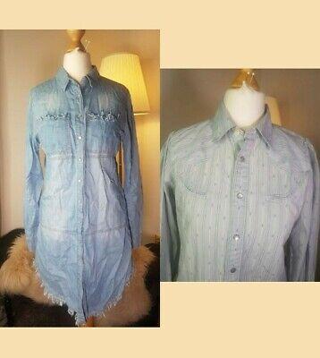 Ralph Lauren Denim Shirt Dress Size 2 USA + Ralph Lauren Steampunk Western Shirt