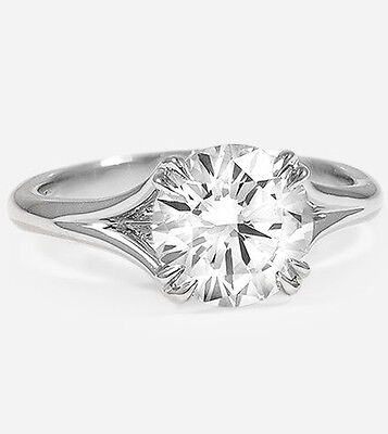 Natural 2.31 Ct Round Brilliant Cut Diamond Engagement Ring Solitaire GIA G, SI1