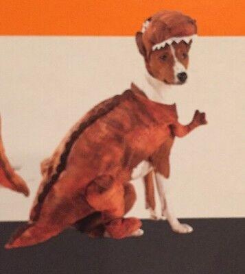 NWT Target Halloween Dog size XS 4 Piece Raptor Dinosaur Pet Costume Brown](Target Dinosaur Costume)