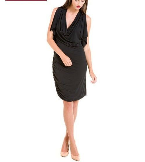 *SALE* NEW HALSTON HERITAGE BLACK SLEEVELESS LBD DRESS-$330-XS-CHARITY LISTING