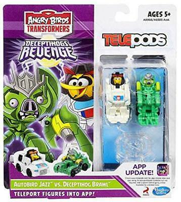 Angry Birds Transformer Telepods Autobird Jazz. Deceptihog Brawl Pig Figure Toy