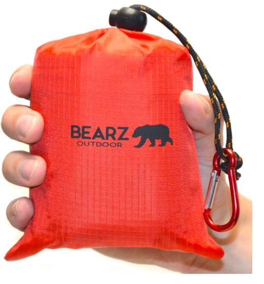 BEARZ Outdoor Beach Blanket-Pocket Blanket 55″x60″ Water