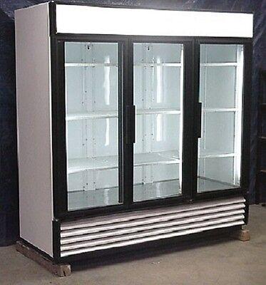 Used True Three Glass Door Freezer Merchandiser