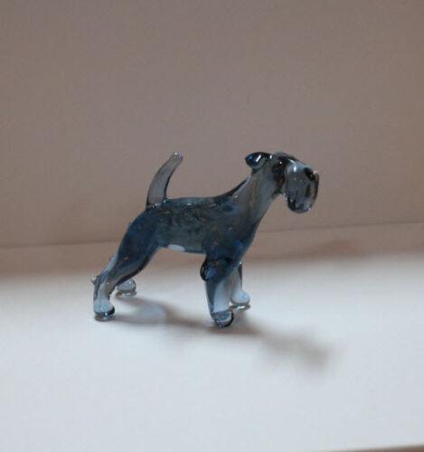 Art Blown Glass Murano Figurine Glass Kerry Blue Terrier