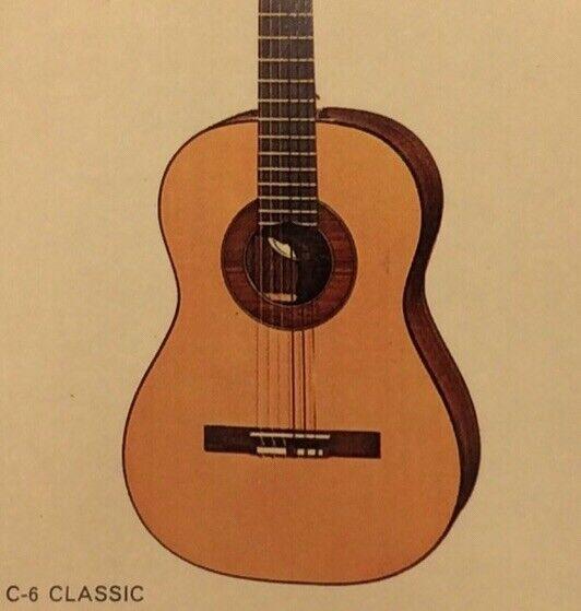 1968 Gibson C-6 Classic Dealer Sheet