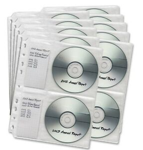 Dac cd/dvd Binder Sheets-Package of 10-New in package +
