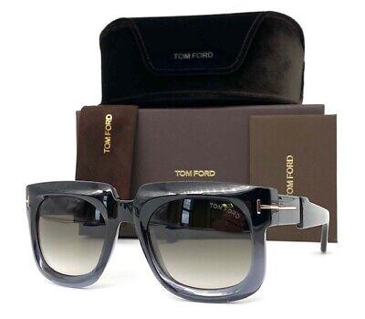 Tom Ford Christian TF0729 05B Shiny Black / Smoke 53mm Sunglasses (Tom Ford Square Sunglasses)