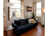 Two, dark blue, Made 'Irvine' sofas £300