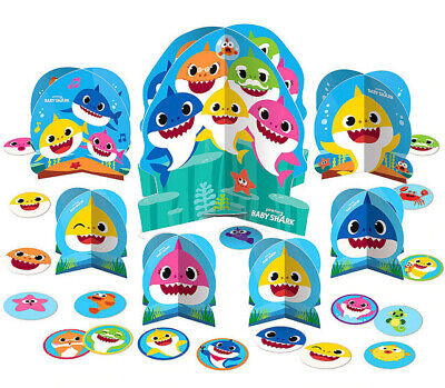 BABY SHARK DooDooDoo Happy Birthday Party TABLE DECORATING K