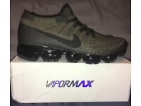 official photos 173e7 0a9cc Nike Air Vapormax Flyknit Khaki Army Green Mens UK 7 Trainers BNIB