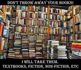 Throwing away books? I'll take them