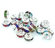 Silver Rhinestone Spacer Beads