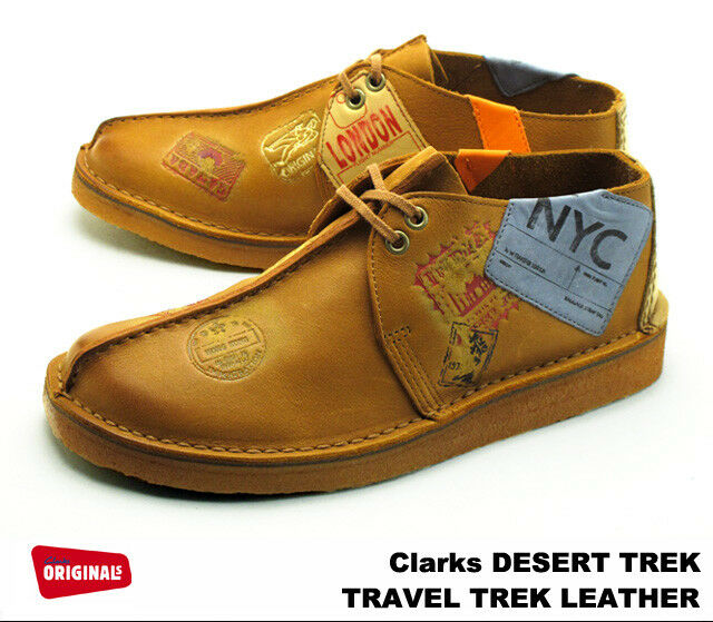 Clarks Originals Men Desert Travel Trek tan Seam Lea , NYC Limited Stock
