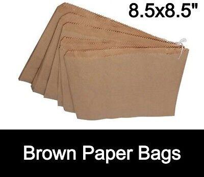 Brown Kraft Paper Bags Strung 8.5