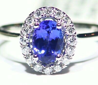 Used, 1.25CT 14K Gold Natural Tanzanite Diamond Vintage AAA Wedding Engagement Ring  for sale  Shipping to Ireland