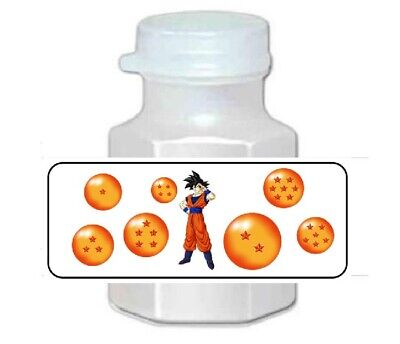 30 Dragon Ball Z Goku Birthday Party Favor Bubble Labels  Balls Birthday Party Favors