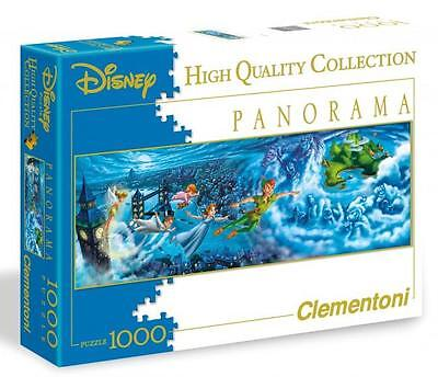 CLEMENTONI DISNEY PANORAMA PUZZLE PETER PAN NIGHT FLIGHTS 1000 PCS #39286