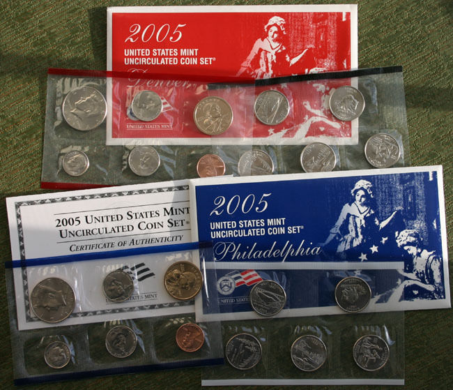 2005 P and D Annual United States Mint Uncirculated 22 Coin Set Complete