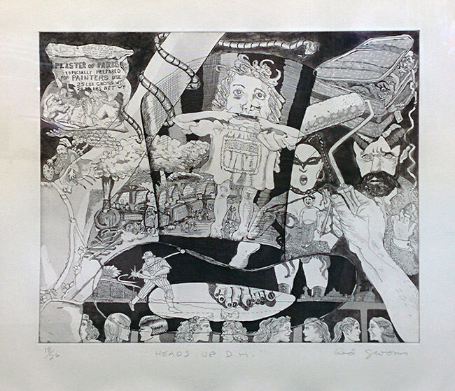 "Red Grooms ""heads Up D.h."" 1980 
