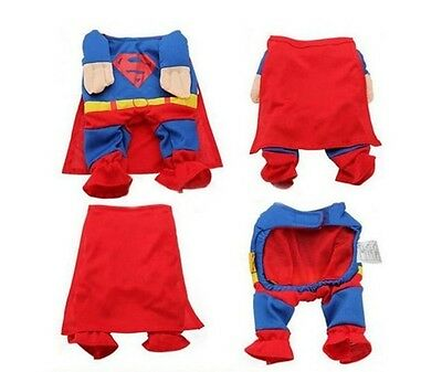 L Size superman shirt Hoodie Tee dog pet clothes Apparel puppy costume cute on Rummage