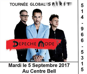 Depeche Mode, 05/09/2017, Centre Bell, Section Rouge
