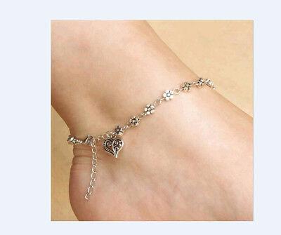 Silber  Fußkette Fußkettchen Schmuck Neu