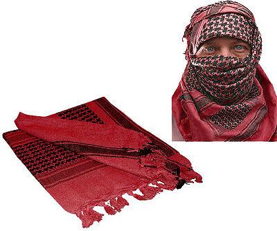 Red & Black Shemagh Tactical Desert Keffiyeh Arab Heavyweight Scarf
