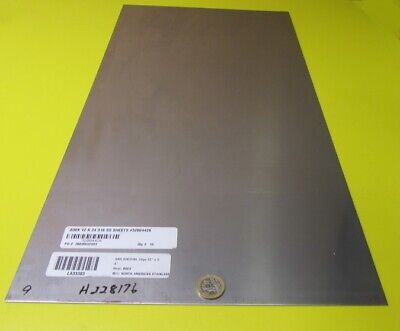 316 Stainless Steel Sheet Annealed .030 Thick X 12 Wide X 24 Length 1 Unit
