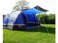 Mojave 5man tent with porch , footprint and carpet plus more