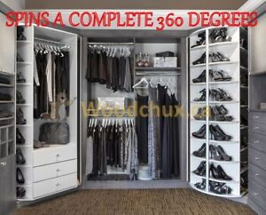 ♥‿♥ .. CLOSET ORGANIZER CAROUSELS spins 360 Degrees .. ♥‿♥