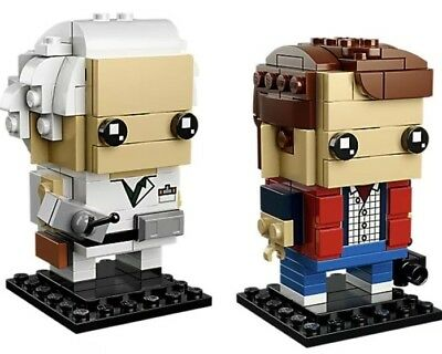 Marty Und Doc ( LEGO EXCLUSIV Brick Headz 41611 Back To The Future Marty Mcfly und Doc Brown)
