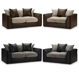 🚚 🚛😅 AMAZING SALE !! LIMITED TIME OFFER !! BRAND NEW JUMBO CORD BYRON CORNER / 3+2 SOFA SET -😅