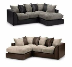 ✔️✔️ JUMBO OFFER ON DYLAN ✔️✔️ 3+2 OR CORNER SOFA ✔️✔️ IN BLACK AND GREY OR BROWN AND BEIGE COLOR