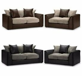 LIMITED OFFER !! DYLAN 3+2 SEATER FABRIC CORDED CORNER SOFA AVAILABLE ****IN 6 COLOUR
