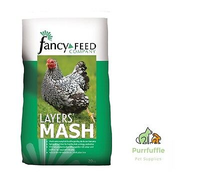 20KG FANCY FEED COMPANY LAYERS MASH POULTRY CHICKEN TURKEY FOOD + OMEGA 6 NON-GM