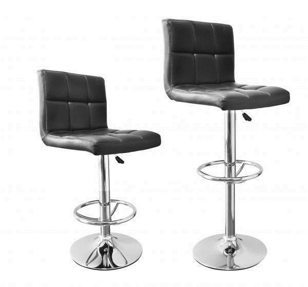 Chic Modern Adjustable Synthetic Leather Swivel Bar Stools