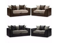 Jumbo cord Fabric*** Brand New Byron Cord + Leather Corner Sofa Or 3 +2 Seater Sofa