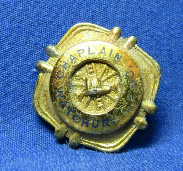 Vintage 1920s to 1930s Watchung C.E. Co. Fire Department Chaplain Named Pin