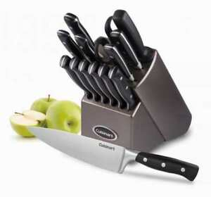Brand New Cuisinart TRC-15C 15-Piece Knife Set - Black/silver