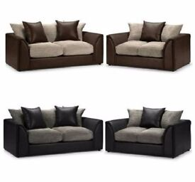 3+2 SEATER **guareented PRICE!!**- Byron Jumbo Cord Corner Sofa Suite - SAME/NEXT DAY DELIVERY