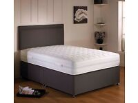 BRAND NEW 4FT 6 LUXURY DOUBLE DIVAN BED SETS CAN DELIVER TODAY LESS THAN HALF PRICE FREE PILLOWS