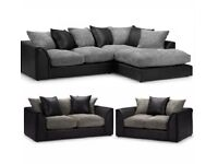 BRAND NEW BYRON CORD CORNER OR 3+2 SEATER SOFA SET AVAILABLE IN STOCK